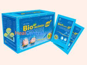 Bio-acimin Gold hộp gồm 30 gói mỗi gói có trọng lượng 4g