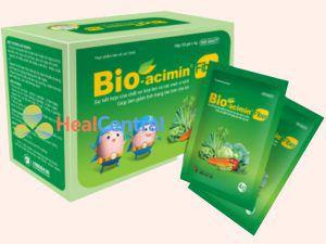 Bio-acimin Fiber hộp gồm 30 gói mỗi gói có trọng lượng 4g