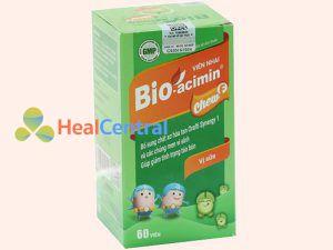 Bio-acimin Chew F hộp gồm 1 lọ chứa 60 viên
