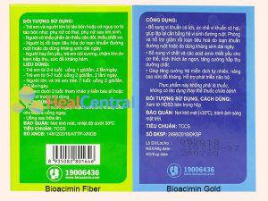 Công dụng của Bioacimin Fiber và Bioacimin Gold