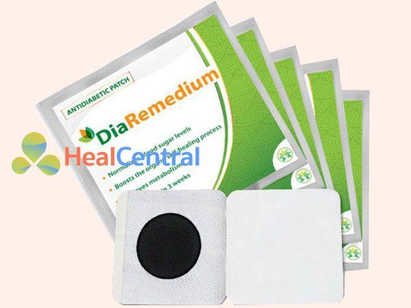 Miếng dán Diaremedium điều trị đái tháo đường