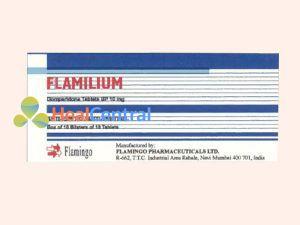 Thuốc Flamilium có chứa thành phần Domepridone với hàm lượng 10 mg