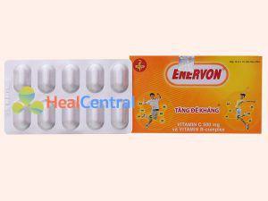 Hộp thuốc Enervon gồm có 10 vỉ mỗi vỉ 10 viên.