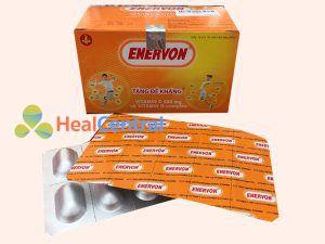 Chi tiết hộp thuốc Enervon