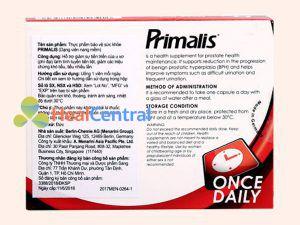Thông tin cơ bản về thuốc Primalis