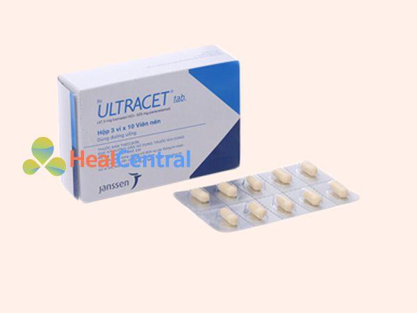 Hình ảnh thuốc giảm đau Ultracet mặt trước