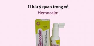 11 lưu ý quan trọng về xịt co trĩ Hemocalm người bệnh trĩ cần biết