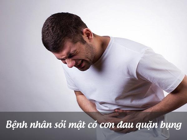 Bệnh nhân sỏi mật nặng xuất hơn cơn đau quặn bụng