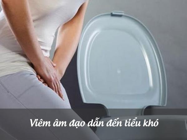 Viêm âm đạo gây ra tình trạng khó tiểu