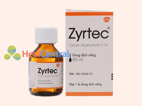 Thuốc Zyrtec dạng siro