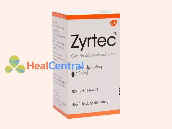Thuốc Zyrtec dạng siro dễ sử dụng cho trẻ em và người già