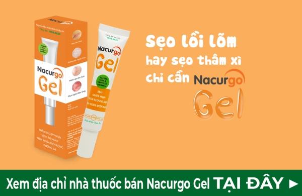 Nacurgo gel – Thành tựu hỗ trợ xử lí sẹo, thâm mụn hiệu quả