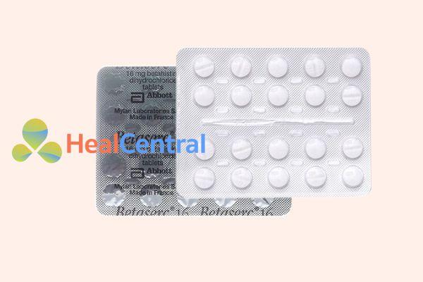 Hình ảnh: Vỉ thuốc Betaserc 16mg