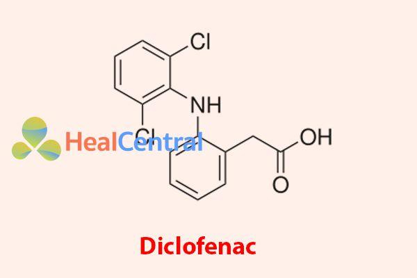 Công thức cấu tạo của Diclofenac