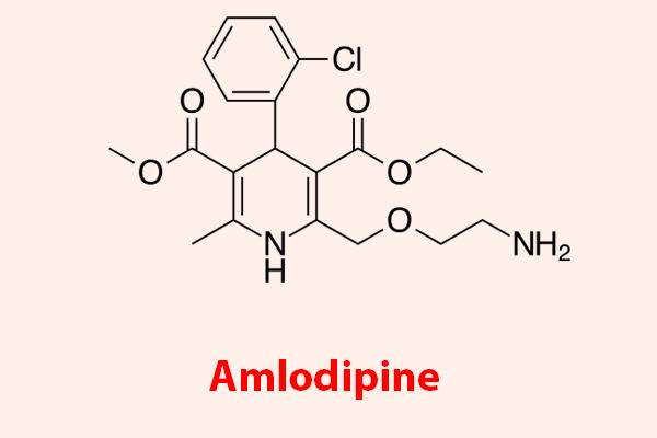 Công thức hóa học của Amlodipine