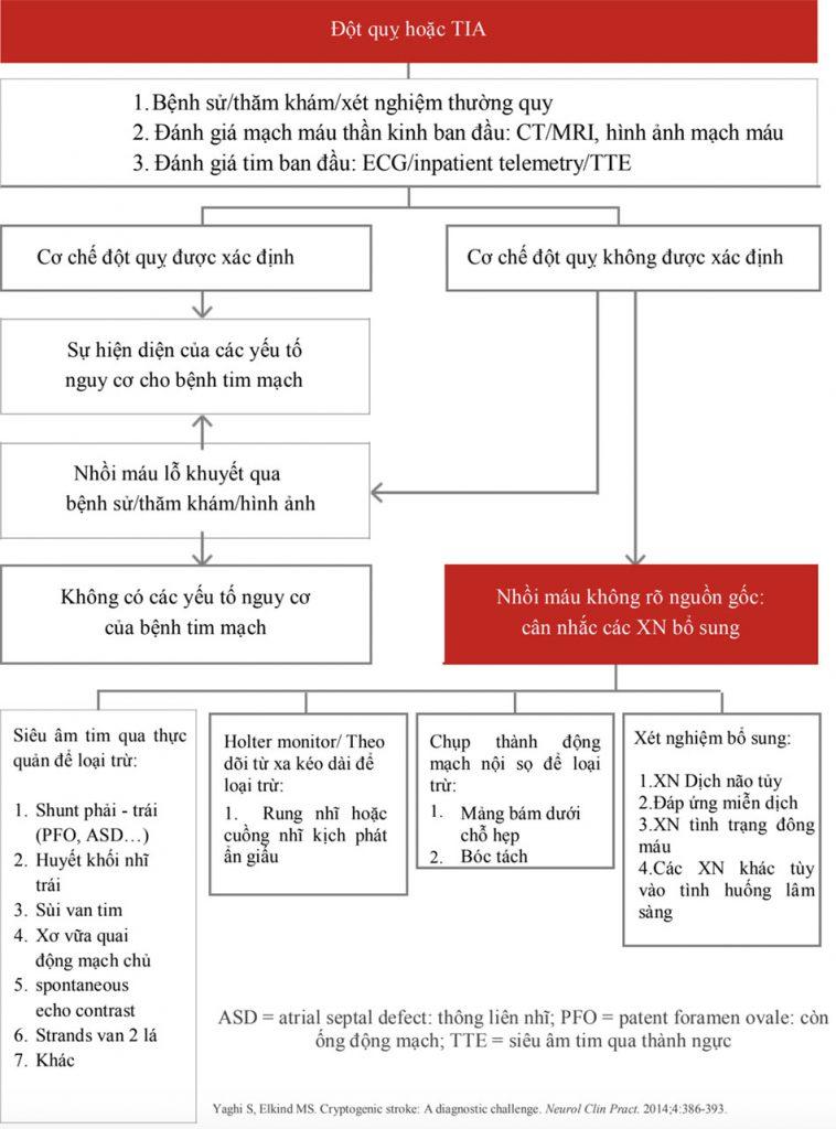Một sơ đồ tiếp cận để theo dõi chẩn đoán sau đột quỵ ở bệnh nhân CS