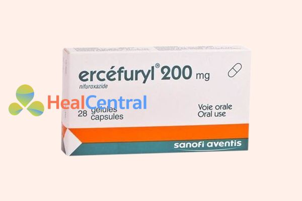 Hộp thuốc trị tiêu chảy Ercéfuryl 200mg