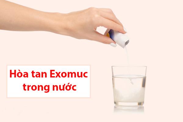 Cách sử dụng thuốc long đờm Exomuc