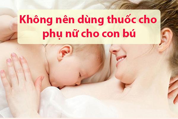 Ảnh hưởng của thuốc Exomuc đối với phụ nữ cho con bú?