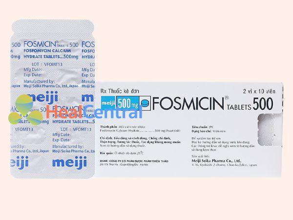 Hình ảnh thuốc Fosmicin mặt sau