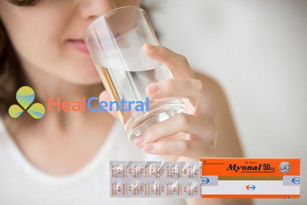 Uống Myonal 50mg vào sau mỗi bữa ăn