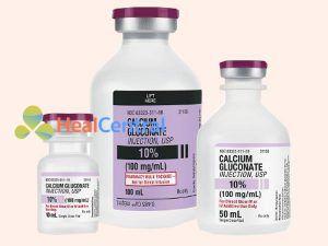 Calcium gluconate dùng trong điều trị ngộ độc chẹn Beta