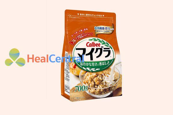 Ngũ cốc Calbee Nhật bản ăn kiêng màu cam vị yến mạch 700mg
