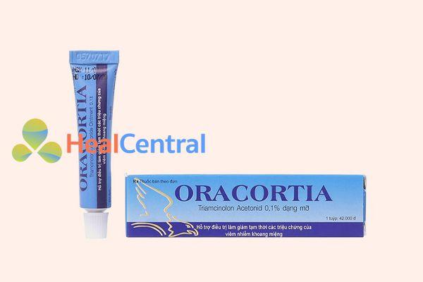 Thuốc Oracortia tuýp 5g