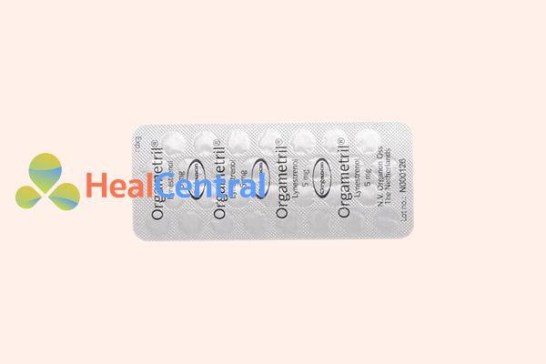 Hình ảnh: Vỉ thuốc Orgametril dùng để điều trị rối loạn kinh nguyệt