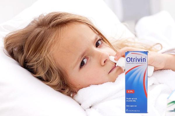 Xử dụng thuốc xịt Otrivin dành cho trẻ em