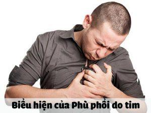 Biểu hiện của Phù phổi do tim