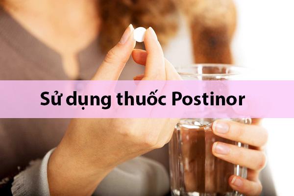 Cách sử dụng thuốc Postinor