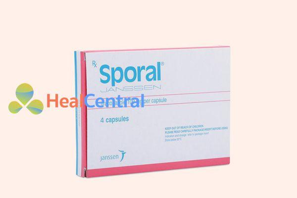 Hình ảnh: hộp thuốc Sporal 100mg