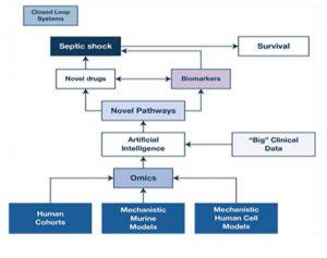 Hình 4 Một sự thay đổi mô hình trong nghiên cứu kết hợp các phương pháp sinh học và tính toán bổ sung sẽ là cần thiết để tiếp tục tăng tỷ lệ sống sót của nhiễm trùng và các loại sốc khác.