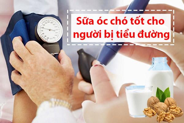 Sữa óc chó rất tốt cho người bị bệnh tiểu đường