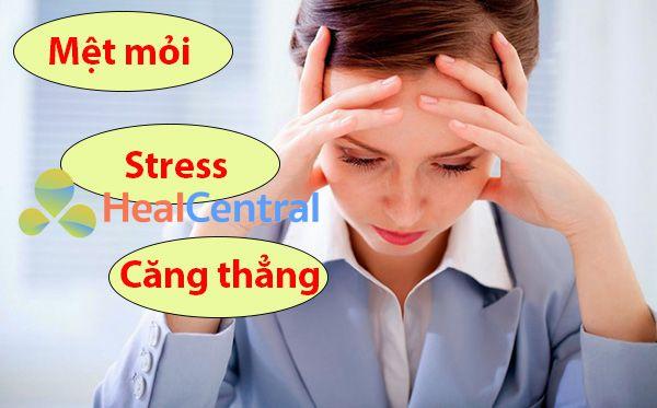 Căng thẳng, stress cũng gây ra tình trạng trào ngược dạ dày thực quản