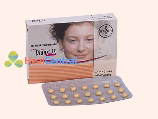 Hình ảnh hộp thuốc Diane 35