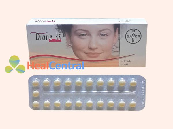Thuốc Diane 35 bào chế dưới dạng viên nén
