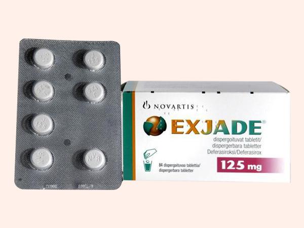 Thuốc Exjade bào chế dạng viên nén