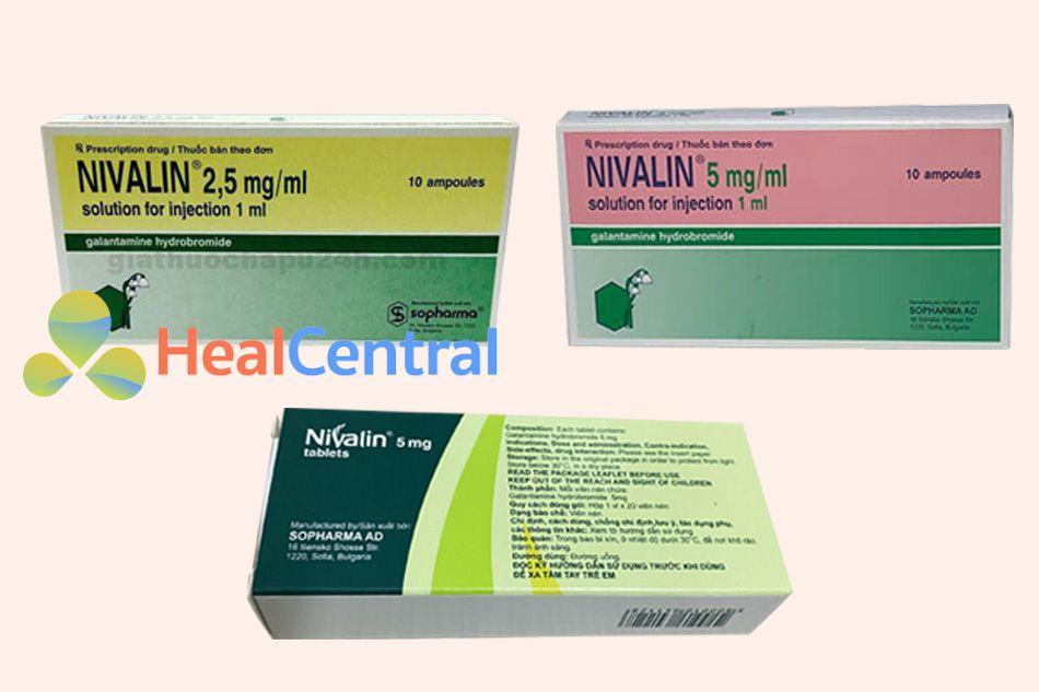 Các dạng bào chế của thuốc Nivalin