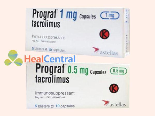 Thuốc Prograf dạng viên nang 0,5mg và 1mg