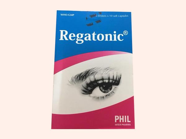 Mặt trước hộp thuốc Regatonic