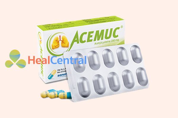 Hình ảnh: Thuốc Acemuc dạng viên nang 200 mg