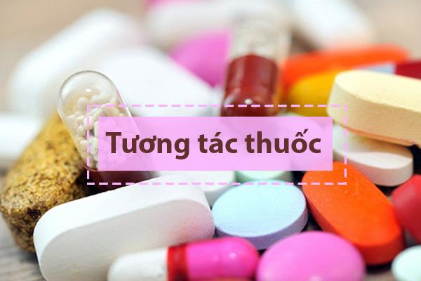 Tương tác của Acemuc với các thuốc khác