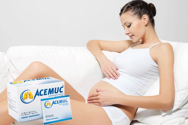 Acemuc có dùng được cho phụ nữ mang thai?