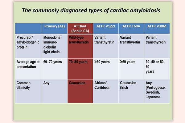 Các loại Amyloidosis thường gặp
