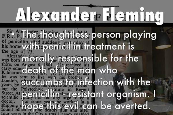 Câu nói nổi tiếng của Alexander Fleming