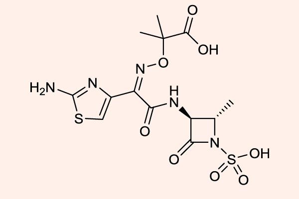 Cấu trúc hóa học của Aztreonam