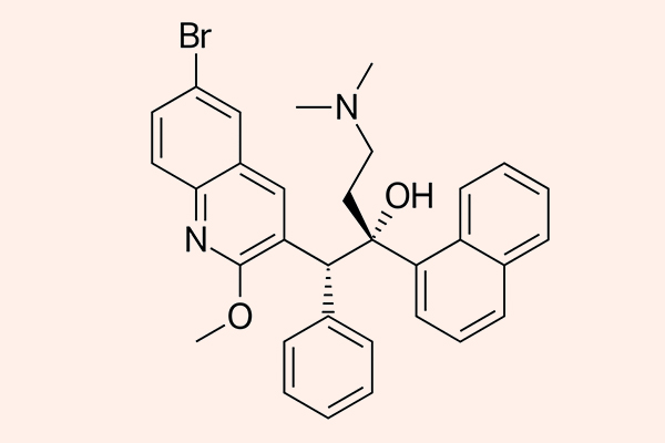 Cấu trúc hóa học của Bedaquiline