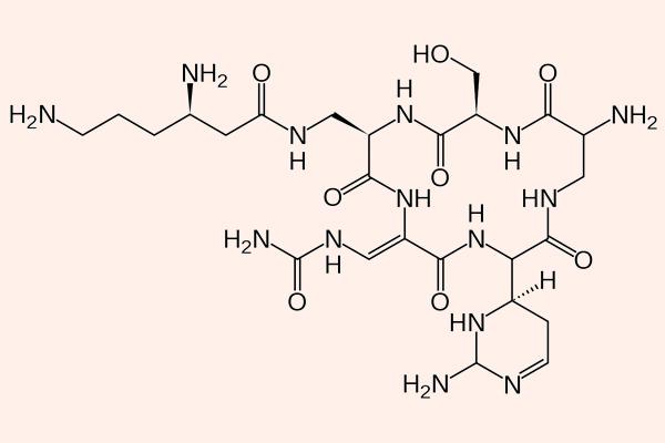 Cấu trúc hóa học của Capreomycin
